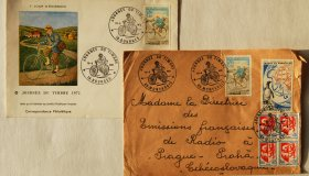 Group of postage stamps and postmarks - France