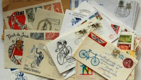 Group of postage stamps and postmarks - mixing