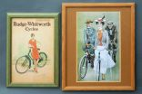 2x advertising posters (framed) - reprints