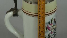 Decorative tankard 23 cm with bicycle motif