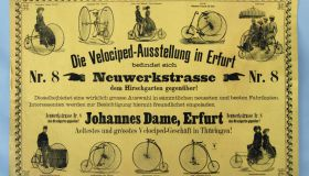 Original poster Velociped Ausstellung