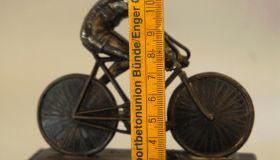 Paperweight with bicycle motif - cca 1930