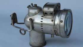 Long acetylene gas lamp - unknown manufacturer