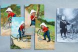 Set of 4 postcard