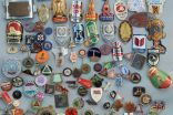 "Approx. 300 pins and badges, subject ""bicycle"""
