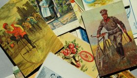 Set of lithographic postcards