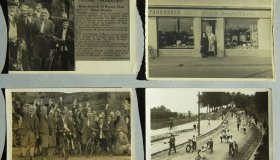 Set of photographic postcards