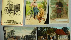 "Set of postcards depicting ""bicycles"""