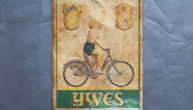 """YWES""  wall sign"