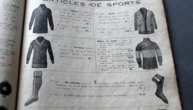 Incomplete French catalogue 1920