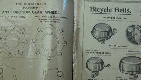 Set of advertising leaflets, invoices and written, material, mostly English, MIX parts, bicycles