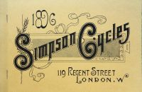 "SIMPSON CYCLES (Simpson ""Lever"" Chain) - 1896"