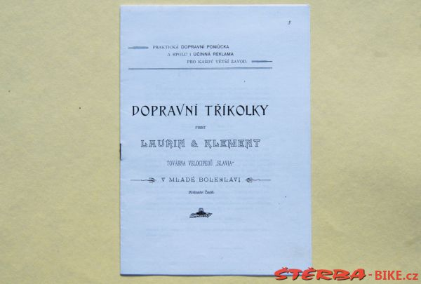 1899 Laurin & Klement – Transport tricycles