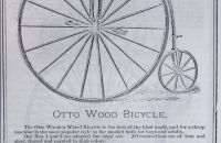 OTTO Wood Bicycle - USA, okolo 1885