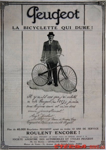 Peugeot, cross frame safety, France – around 1888