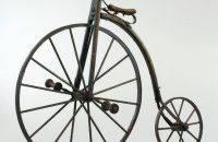 Wooden high wheel, made in Boston probably, USA – after a year 1873