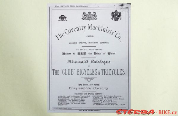 Coventry Machinists Co.  – 1884