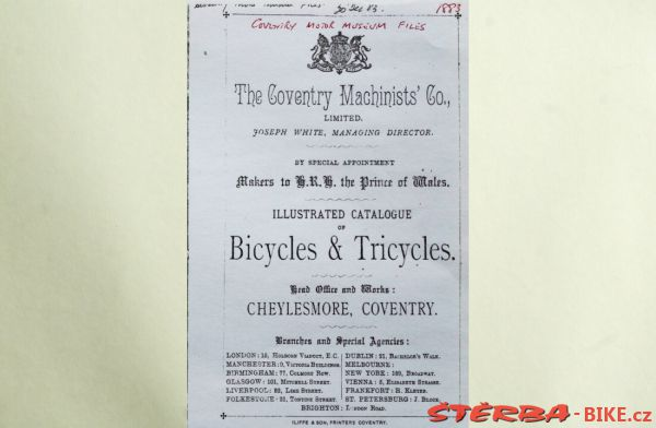 Coventry Machinists Co.  – 1883