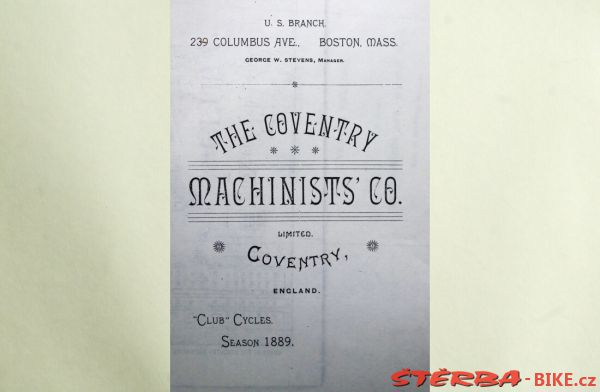 Coventry Machinists Co.  – 1889