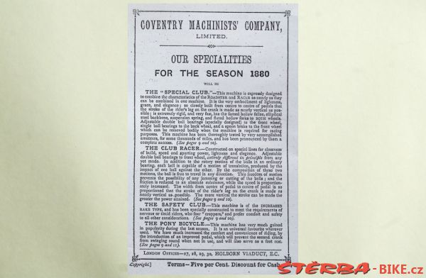 Coventry Machinists Co.  – 1880