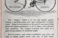 Hard Tire Safety Singer 1888