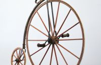 Wooden high wheel, made in France probably  – after a year 1874