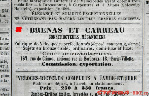 Brenas at Carreau - Velocipede Illustré