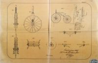 Wire wheels patent 1870