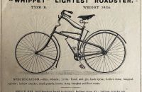 "Linley & Biggs´s ""WHIPPET"" Lightest Roadster- England 1890"