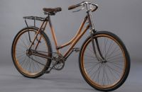 Lady's bicycle with wooden frame, unknown factory, c.1910